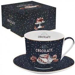 Mug - Chocolate - Porcelaine - EASY LIFE - Tasse / Mug - DE-555591