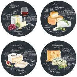 Assiette à fromage x 4 - Porcelaine - EASY LIFE - Assiette / plat / plateau / coupelle - DE-506338