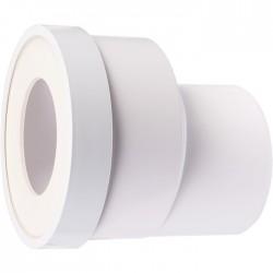 Pipe WC à sortie droite excentrée - 93 mm - REGIPLAST - Raccordement WC - SI-990001