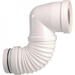 Pipe WC coudée extensible - 200 à 400 mm - Diamètre 100 mm - REGISPLAST - Raccordement WC - SI-990012