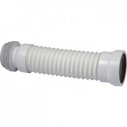 Pipe WC extensible - PVC - 270 à 540 mm - CODITHERM - Raccordement WC - SI-241845