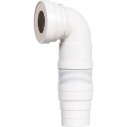 Pipe WC coudée articulée et extensible - - SIAMP - Raccordement WC - SI-902305
