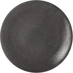 Set de 6 assiettes plates - Ligne Stone - Gris - Grès - 27 cm - MEDARD DE NOBLAT - Assiette / plat / plateau / coupelle - DE-...