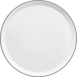 Set de 6 assiettes plates - Yaka - Blanc - Porcelaine - 27 cm - MEDARD DE NOBLAT - Assiette / plat / plateau / coupelle - DE-...