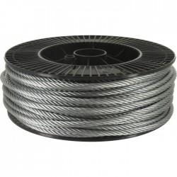 Bobine de 100 m de câble d'horlogerie 6 torons de 7 fils - ⌀6 mm - LEVAC - Câble / Chaîne - BR-324129