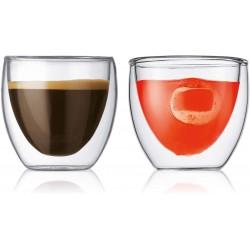 Set de 2 verres - Double paroi - 8 cl - BODUM - Verre / Chope / Coupe - DE-296566