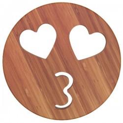 Dessous de plat - Bambou - Aimanté - Bisous - ARTYFORM - Accessoires / Dessous de plat - DE-563008