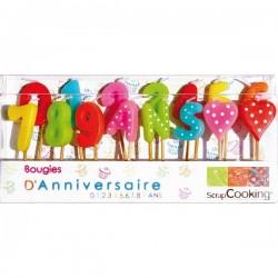Ensemble de bougies d'anniversaire - SCRAPCOOKING - Bougies de table / Accessoires - DE-739037