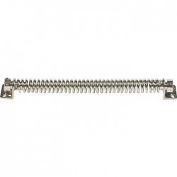 Ferme-porte mécanique - Spire - N°14 - Acier nickelé - 280 mm - Ferme-porte et pivot - BR-330014