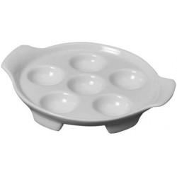 Assiette à escargots x 6 - Porcelaine - Blanc - GIRARD - Assiette / plat / plateau / coupelle - DE-643148