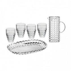 Set de 6 pièces - Tiffany - Plateau / verres / carafe - Transparent - GUZZINI - Assiette / plat / plateau / coupelle - DE-484402