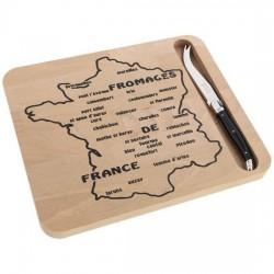 Plateau à fromages / couteau Laguiole - Fromages de France - JEAN DUBOST / PRADEL - Assiette / plat / plateau / coupelle - DE...