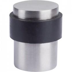 Butée de sol - Aluminium argent - 37 mm - VACHETTE - Butée et arrêt de porte - SI-331003