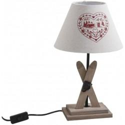 Lampe à poser - Thème Ski - Bois - AUBRY GASPARD - Pour l'intérieur - DE-686402