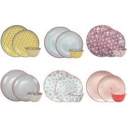 Service 18 pièces - Porcelaine - Sabae - ARD'TIME - Assiette / plat / plateau / coupelle - DE-500638