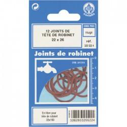 Joint en fibre pour tête de robinet - ⌀22 x 26 mm - Lot de 12 - GRIPP - Joint fibre de tête de robinet - BR-548006