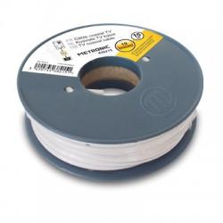 Câble coaxial blanc en bobine 10 m - METRONIC - Télévision - BR-440556