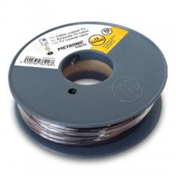 Câble coaxial noir en bobine de 25 m - METRONIC - Télévision - BR-108596