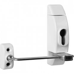 Entrebailleur de fenêtre à clé - Sans cylindre - Blanc - THIRARD - Entrebailleur fenêtre et porte - SI-302253