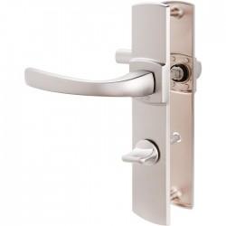Poignée de porte - Muze - Entraxe 195 - Condamnation - Argent - VACHETTE - Poignée de porte / portail - SI- 409313