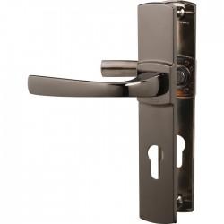 Poignée de porte - Muze - Entraxe 195 - Clé I - Diamant noir- VACHETTE - Poignée de porte / portail - SI- 409308