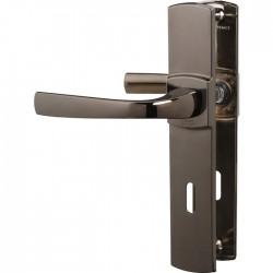 Poignée de porte - Muze - Entraxe 165 - Clé L - Diamant noir - VACHETTE - Poignée de porte / portail - SI-409319