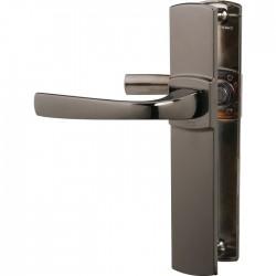 Poignée de porte - Muze - Entraxe 195 - Bec de cane - Diamant noir - VACHETTE - Poignée de porte / portail - SI- 409306