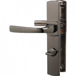 Poignée de porte - Muze - Entraxe 165 - Condamnation - Diamant noir - VACHETTE - Poignée de porte / portail - SI-  409321