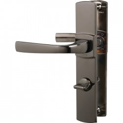 Poignée de porte - Muze - Entraxe 195 - Condamnation - Diamant noir - VACHETTE - Poignée de porte / portail - SI- 409309