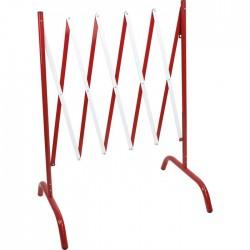 Barrière de chantier extensible - Rouge / Blanc - NOVAP - Signalisation / Sécurité - SI-305767