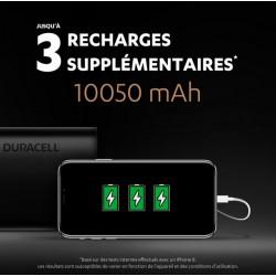 Chargeur portable par USB - Powerbank 10050 mAh - DURACELL - Chargeur et accumulateur - SI-534887