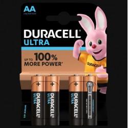 Piles Ultra alcaline - LR06 - AA - Lot de 4 - DURACELL - Pile classique - SI-534820