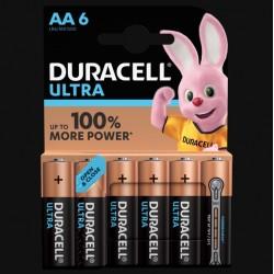 Piles Ultra alcaline - LR06 - AA - Lot de 6 - DURACELL - Pile classique - SI-534822