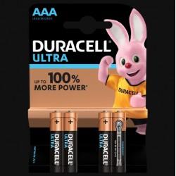 Piles Ultra alcaline - LR03 - AAA - Lot de 4 - DURACELL - Pile classique - SI-534821