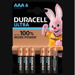 Piles Ultra alcaline - LR03 - AAA - Lot de 6 - DURACELL - Pile classique - SI-534823