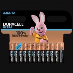 Piles Ultra alcaline - LR03 - AAA - Lot de 12 - DURACELL - Pile classique - SI-534827