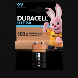 Pile Ultra alcaline - 6LR61 - 9 Volts - DURACELL - Pile classique - SI-534830