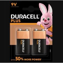 Piles Plus alcaline - 3LR61 - 9 Volts - Lot de 2 - DURACELL - Pile classique - SI-534849