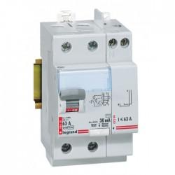 Interrupteur différentiel bipolaire - Type AC 30mA arrivée haut/départ haut 63 A - LEGRAND - Interrupteur différentiel - BR-0...