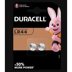 Piles boutons alcalines- LR44 - 1.5 Volts - Lot de 2 - DURACELL - Pile miniature / plate - SI-534879