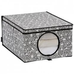 Boite de rangement à linge - Keith Haring - ORDINETT - Rangement et soin du linge - DE-452912