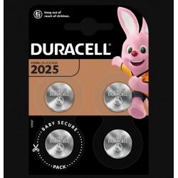 Piles boutons Lithium - CR2025 - 3 Volts - Lot de 4 - DURACELL - Pile miniature / plate - SI-534866