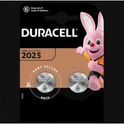 Piles boutons Lithium - CR2025 - 3 Volts - Lot de 2 - DURACELL - Pile miniature / plate - SI-534873