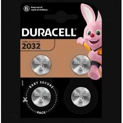 Piles boutons Lithium - CR2032 - 3 Volts - Lot de 4 - DURACELL - Pile miniature / plate - SI-534867