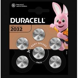 Piles boutons Lithium - CR2032 - 3 Volts - Lot de 6 - DURACELL - Pile miniature / plate - SI-534875