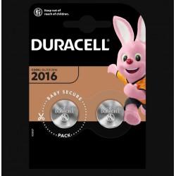 Piles boutons Lithium - CR2016 - 3 Volts - Lot de 2 - DURACELL - Pile miniature / plate - SI-534872
