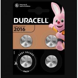 Piles boutons Lithium - CR2016 - 3 Volts - Lot de 4 - DURACELL - Pile miniature / plate - SI-534865