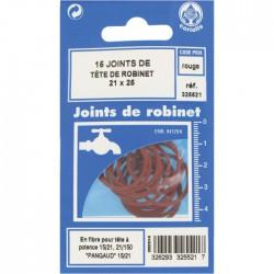 Joint en fibre pour tête de robinet - ⌀21 x 25 mm - Lot de 15 - GRIPP - Joint fibre de tête de robinet - BR-547999