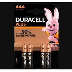 Piles Plus alcalines - LR03 - AAA - Lot de 4 - DURACELL - Pile classique - SI-534833
