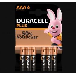Piles Plus alcalines - LR03 - AAA - Lot de 6 - DURACELL - Pile classique - SI-534835